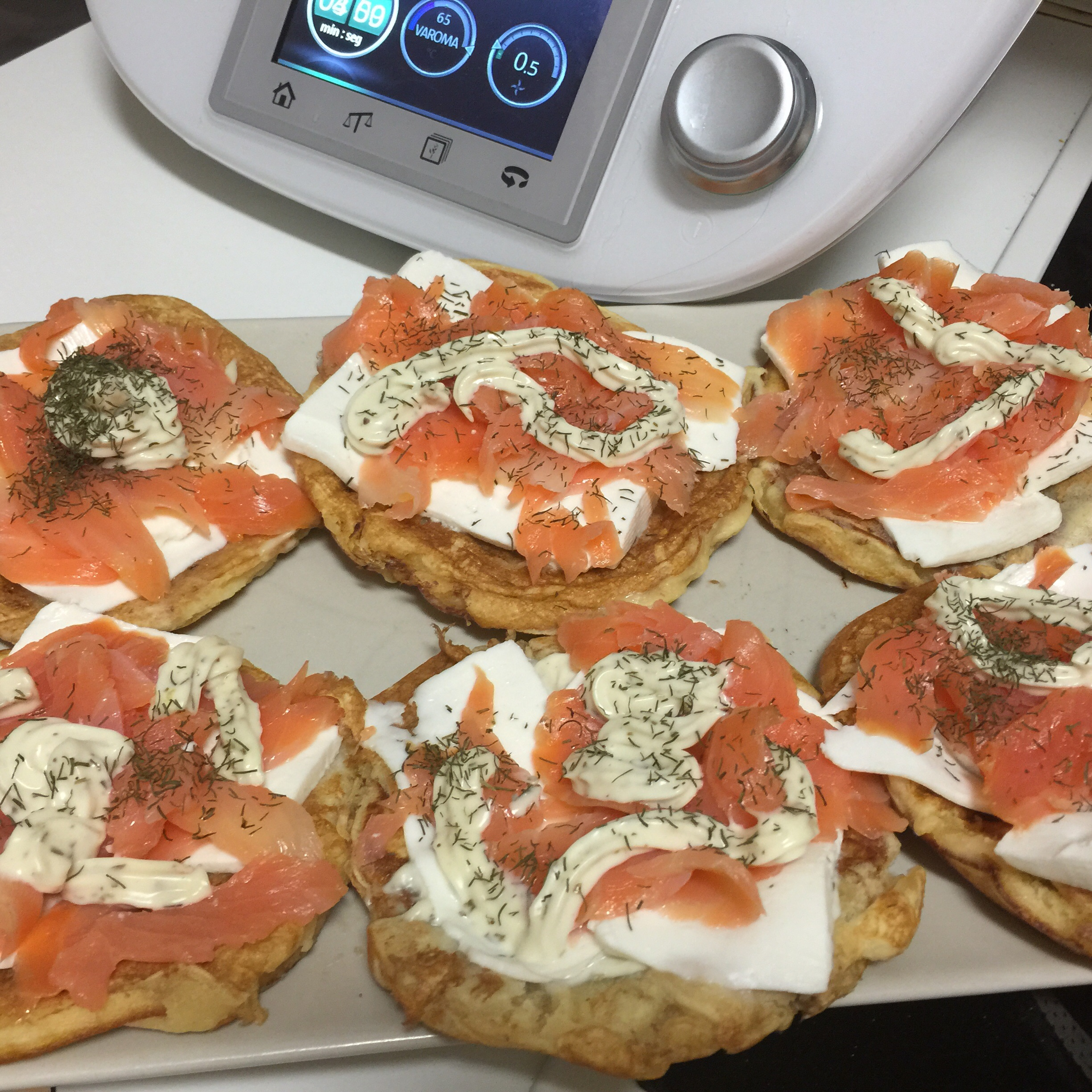 Blinis en Thermomix® Marbella