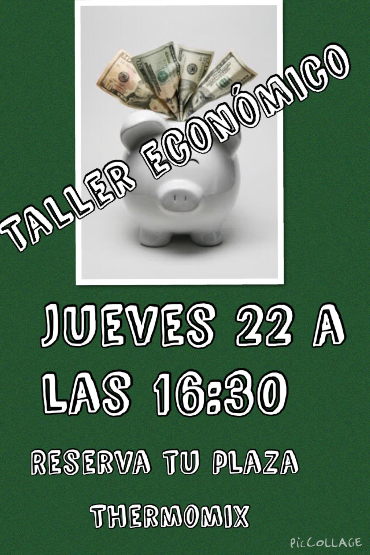 TALLER DE RECETAS ECONOMICAS EN Thermomix®