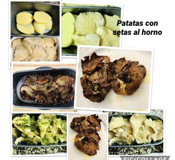 Patatas con Setas al horno en Thermomix®