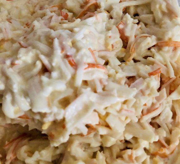 Ensalada de carne de cangrejo y huevo con Thermomix®