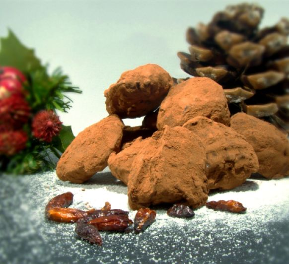 Trufas de Chocolate con Curry y Chile con Thermomix®