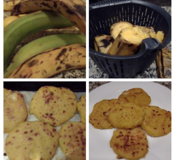 Tortillas de plátano macho maduro