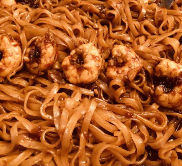 Noodles de gambón con Thermomix®