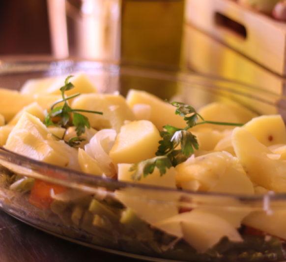 Hervido de patatas y verduras