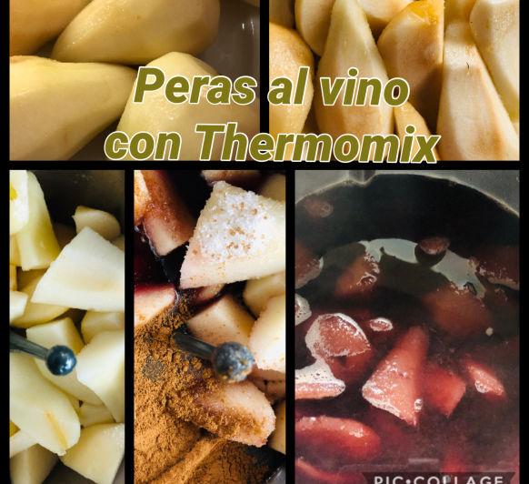 Peras al vino con Thermomix®