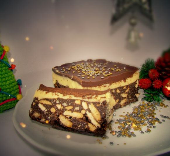 Turrón de Chocolate y Crema de vainilla con Thermomix®