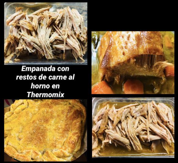 Empanada de restos de lomo al horno con Thermomix®