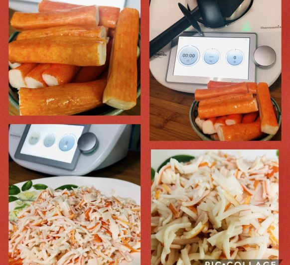 Carne de cangrejo en juliana con Thermomix®
