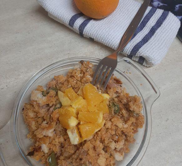 Migas con naranja