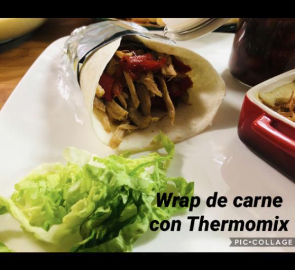 Wrap de carne de aprovechamiento con Thermomix®