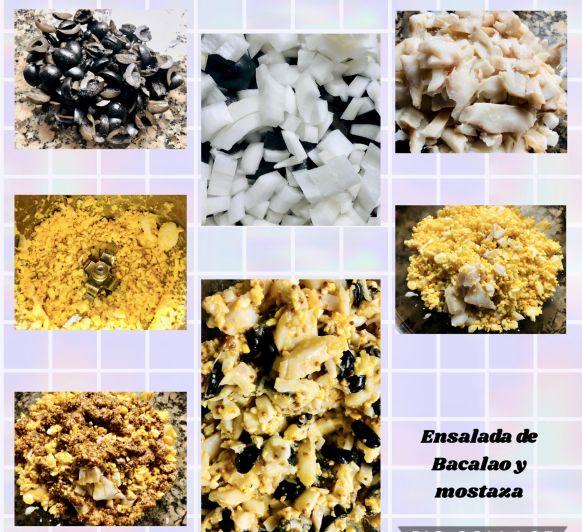Vinagreta de Bacalao y mostaza con Thermomix®