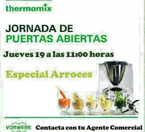 JORNADA DE PUERTAS ABIERTAS DE ARROCES CON Thermomix®