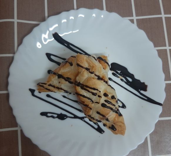 Hojaldre de crema pastelera